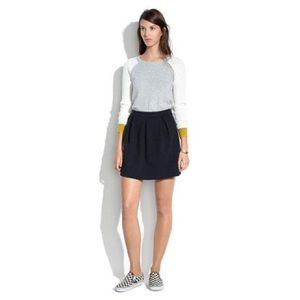 Madewell Bistro Mini Skirt in Forest Green